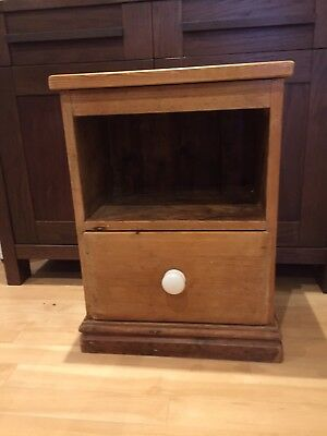 Stripped Pine Victorian Small Bedside Cupboard