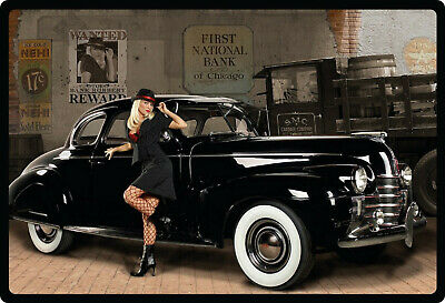 961d08e72a3eea Blechschild 30x20cm sexy Pinup Oldtimer Garage Auto Car pin up Schild Tin  Sign