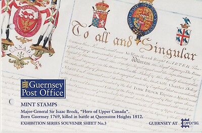 1996 Guernsey CAPEX '96 Stamp Exhibition Presentation Stamp Pack SGMS704