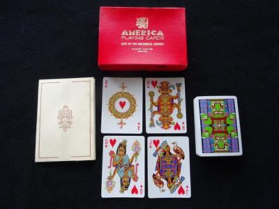 Vintage Playing Cards Fournier 1960s Non Standard Arts of Pre Columbian America