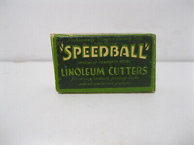 Vintage 1 dozen #4 Speedball Linoleum Cutters In Box  *NEW OLD STOCK*