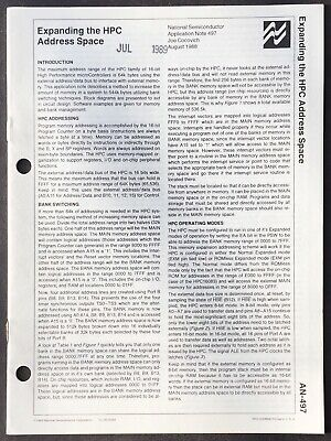 National Semiconductor - Expanding HPC Controller Address Space Data Sheet 1988