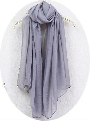 2019 Women Girl Solid Long Scarves Casual Cotton Scarf Wraps Shawl Gift  New