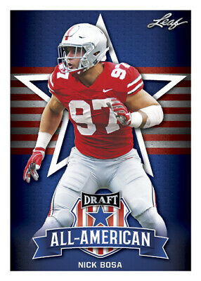 25 ct lot Nick Bosa 2019 Leaf Draft Football All American Insert Rookies RCs