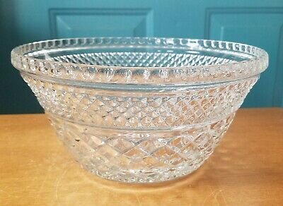 Anchor Hocking Wexford Clear Glass Punch Bowl Stand or Salad Bowl