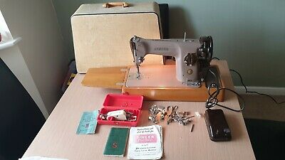 SEMI-INDUSTRIAL VINTAGE SINGER  201k ELECTRIC SEWING MACHINE -PLUS ACCESSORIES