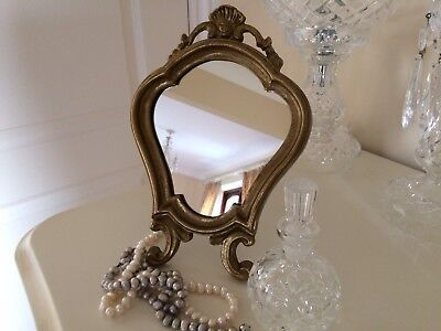 Antique / Vintage Gorgeous French Style  Solid Brass Vanity Mirror