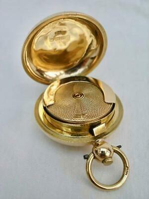 Rare Solid 18 Carat Gold Sovereign Case By Joseph Gloster Birmingham 1901.