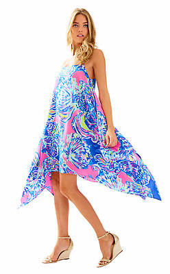 811dfe2325f 2017 NWT Lilly Pulitzer Kimi Silk Dress~Size XXS~Multi Coastal Retreat~ 258