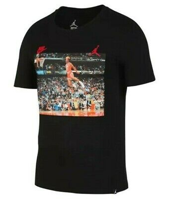 save off 06f9b aaa82 Nike Men s Jordan JSW 1988 Dunk T-Shirt SS Crew Neck Black Size M NEW
