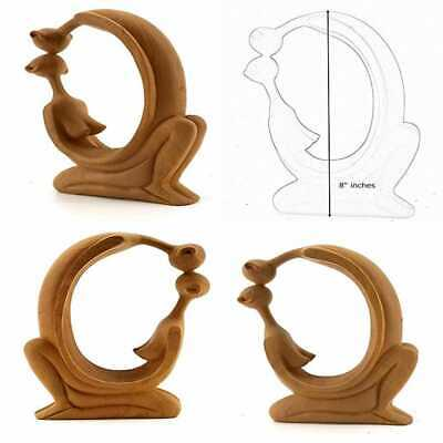 Love Statue Hug Embrace Modern Art Up Down Kissing BROWN Romantic Sculpture Ston