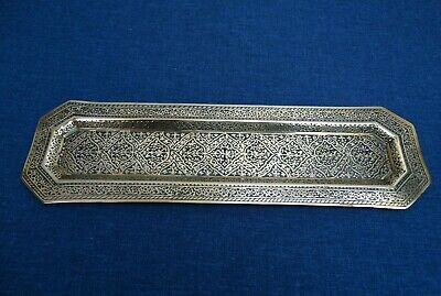 Kinco Brass Tray Beautiful Etched Collectors Rare Decorated