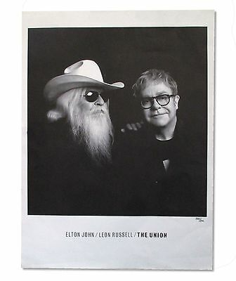 Elton John Leon Russell The Union Wall Poster Lithograph Numbered New Limited