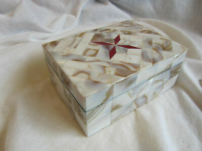 A Vintage Mother Of Pearl Inlaid Small Box