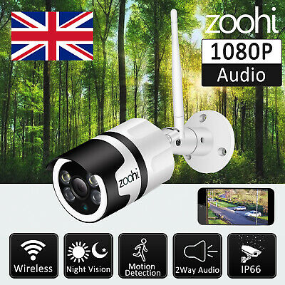 1080P Wireless Home Security Camera System Baby Monitor 2-way Audio Video PT UK