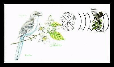 DR JIM STAMPS Us Florida State Bird Flower Tudor House Fdc Cover
