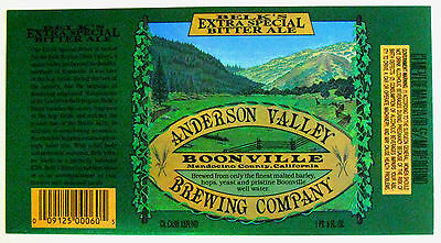 Anderson Valley Brewing BELKS EXTRA SPECIAL BITTER ALE large beer label CA 22oz