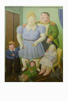Fernando Botero postcard (37) - The General and his Family, 1977 - size:15x10 cm