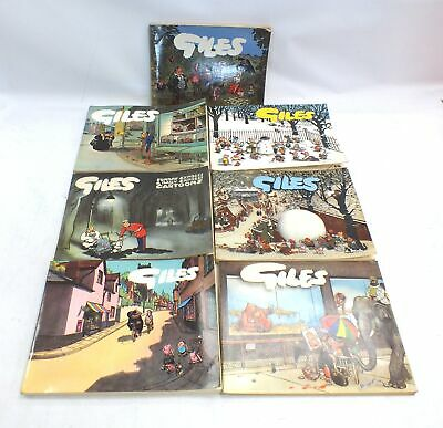 Giles Cartoon Annual 7th 10th 11th 15th 16th 17th 36th Series 1950s 1960s - D24