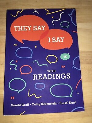 They Say / I Say With Readings 4th Edition. LIKE NEW