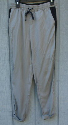 Gray Pants with Black Stripe on Sides No Label 30 Inch Elastic Waist