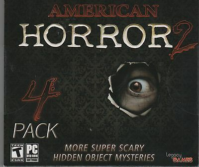 THE STANWICK LEGACY Hidden Object AMERICAN HORROR 4 PACK PC Game NEW