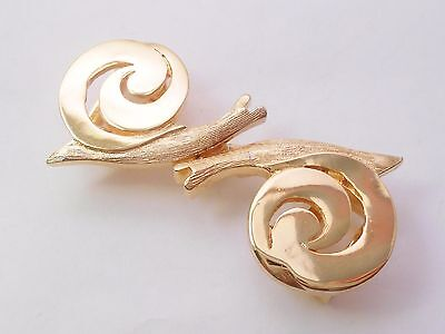 Mimi Di N Snails Snail Belt Buckle Two Piece Buckle Vintage 1979