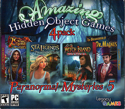 WITCH ISLAND LEGACY Hidden Object 4 PACK + BONUS! PC Game DVD-ROM NEW