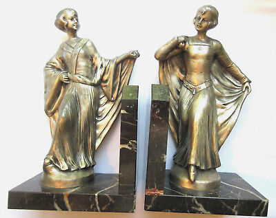 RARE Bookends period Art Deco, CHIPARUS Style: Women's Prom Dress