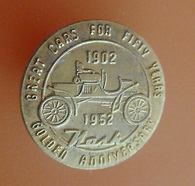 Vintage NASH MOTOR CO 50th Anniv Screw-back Pin: 1902-52; Automotive Collectible