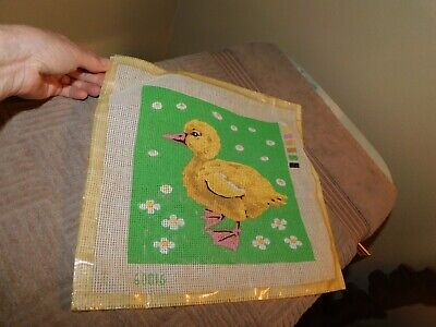Yellow Duckling Needlepoint Canvas No Thread Vintage No. 60016