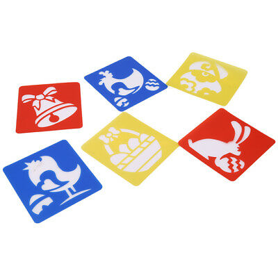 Lovely 6 Pieces Plastic Drawing Painting Stencil Templates for Kids Crafts AL