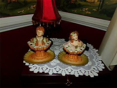 Finely Done Bisque Male Table Cigarette Holder/Snuffer Male Female Set Ardalt