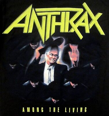 Anthrax Among The Living Front Only T-Shirt SM LG XXL New MD XL