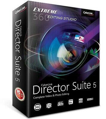 Cyberlink Director Suite 5 Power Video/Photo/Audio Editing - Fast delivery -