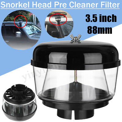 Snorkel Head Pre Cleaner Intake Pre Cleaner for 3.0 inch 88mm Inlet Air Ram 4WD