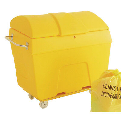 Yellow Clinical Waste Truck 400 Litre With Graphic 313747