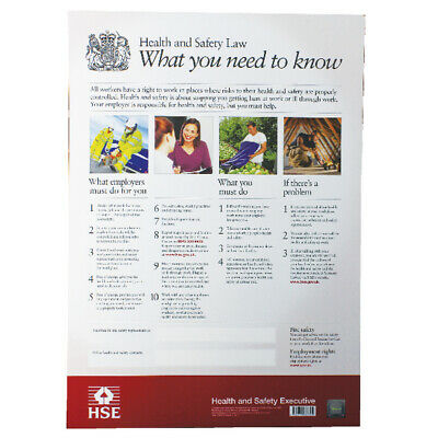 New Health and Safety Law Poster A2 FWC30