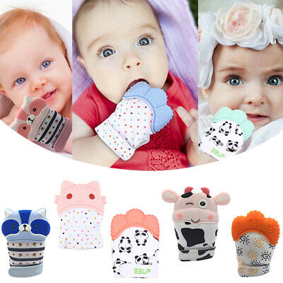 AH Baby Mitt Silicone Teething Mitten Soft Teether Teething Glove Candy Wrapper