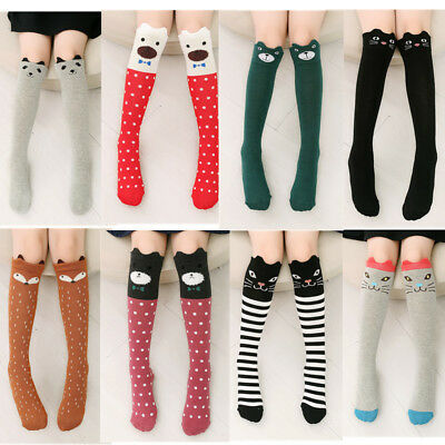 Kids Girls 3D Cartoon Socks Animals Knee Breathable Long Warm Stocking Cute Sock