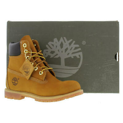 Timberland 6 Inch Premium Wheat Womens Ladies Waterproof Ankle Boots Size 3-8