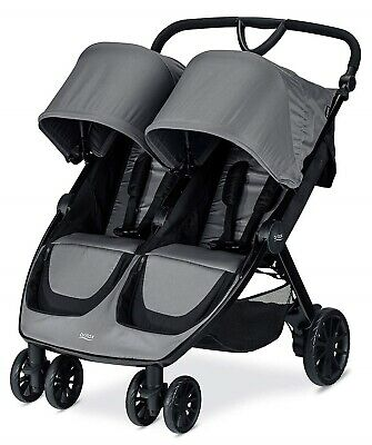 Britax B-Lively Lightweight Quick Fold Twin Baby Double Baby Dove NEW 2019