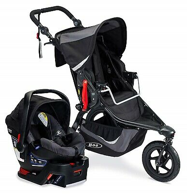 BOB Revolution Flex 3.0 Travel System Stroller w B Safe 35 Car Seat Graphite BLK