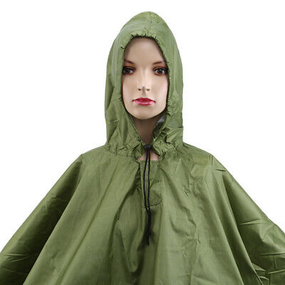 3 in 1 Multifunctional Raincoat Poncho Backpack Camo Rain Cover Awning Tent Z
