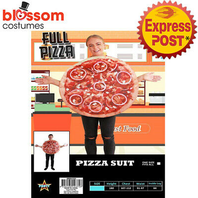 CA939 Pizza Tunic Fancy Dress Food Funny Novelty Mens Womens Stag Hens Costume
