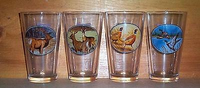 Miller High Life Wilderness 4 Beer Pint Glasses New