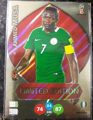 Ahmed Musa Limited Edition *World Cup 2018 Russia*Panini Adrenalyn Xl