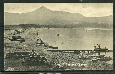 Postcard  : Isle of Arran, jetty and boats on beach at Brodick,
