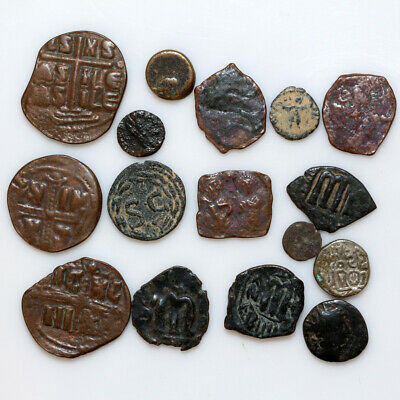 Nice Lot Of 16 Ancient Greek , Roman , Byzantine & Islamic Coins