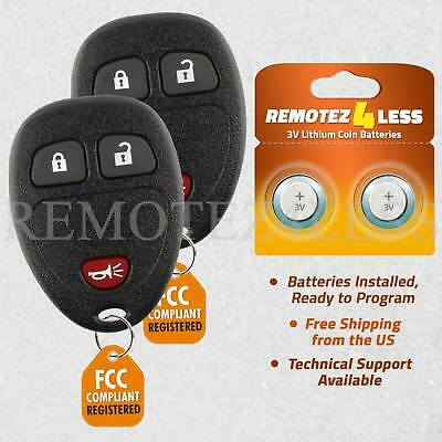 2 Keyless Entry Remote Control Car Key Fob for 2007-2014 EQUINOX CHEVROLET TAHOE